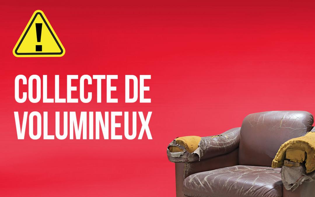 COLLECTE DES VOLUMINEUX DANS LA SEMAINE DU 6 SEPTEMBRE 2021